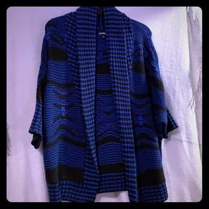 Black and blue express sweater